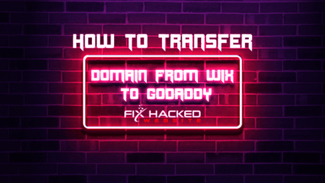 How to transfer Domain From Wix to Godaddy