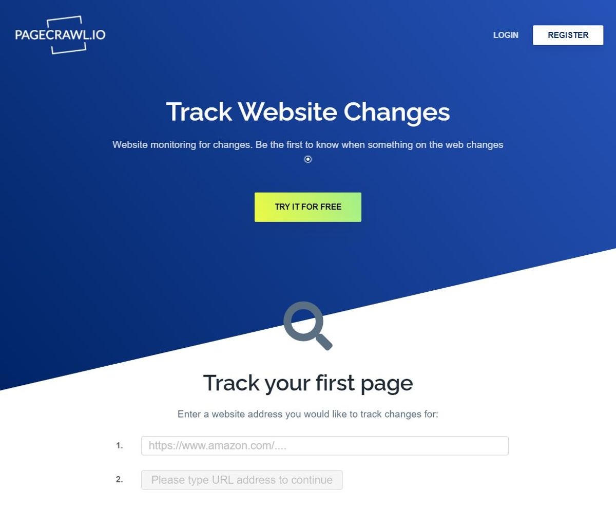 PageCrawl.io - Best Free Tools to Monitor Website Changes
