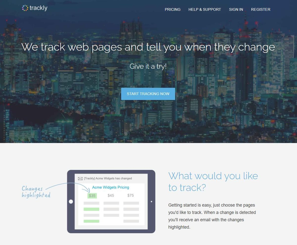 Trackly - Best Free Tools to Monitor Content Changes