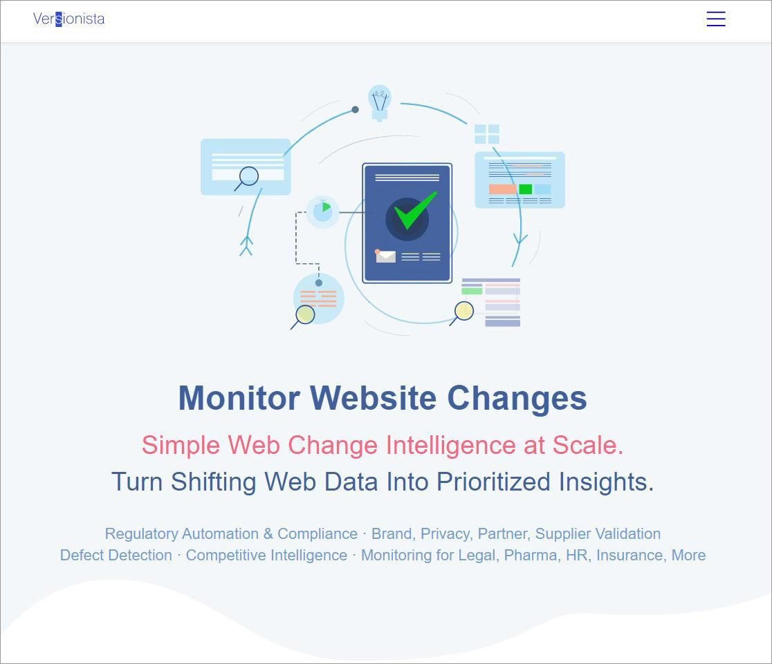 Versionista - Best Free Tools to Monitor Content Changes
