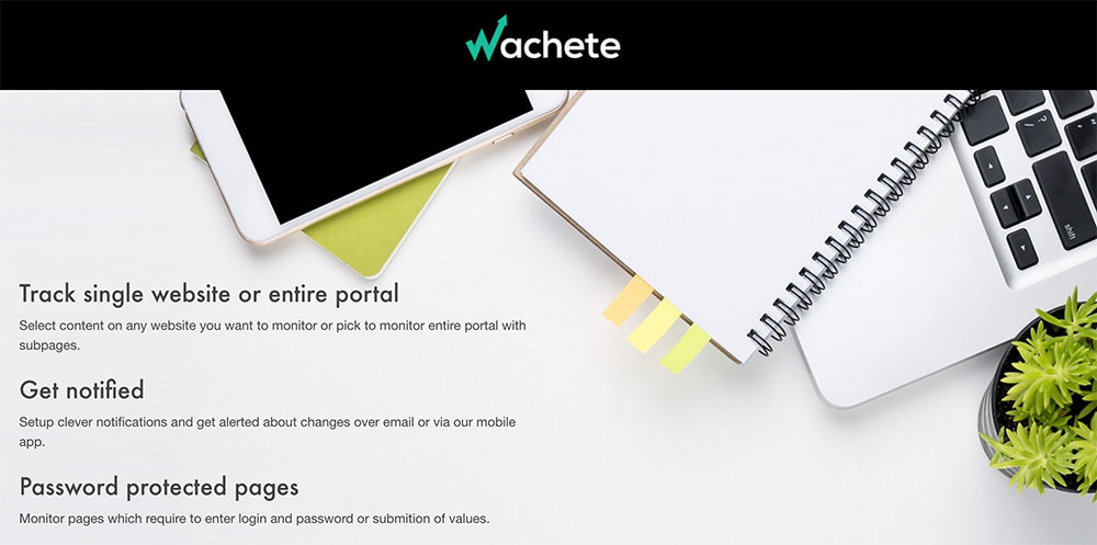 Wachete - Best Free Tools to Monitor website Changes